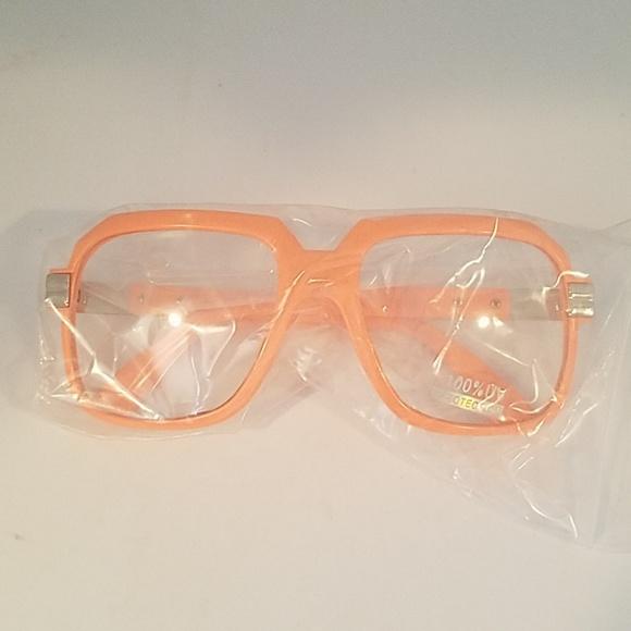 Other - Orange frame clear lens glasses new
